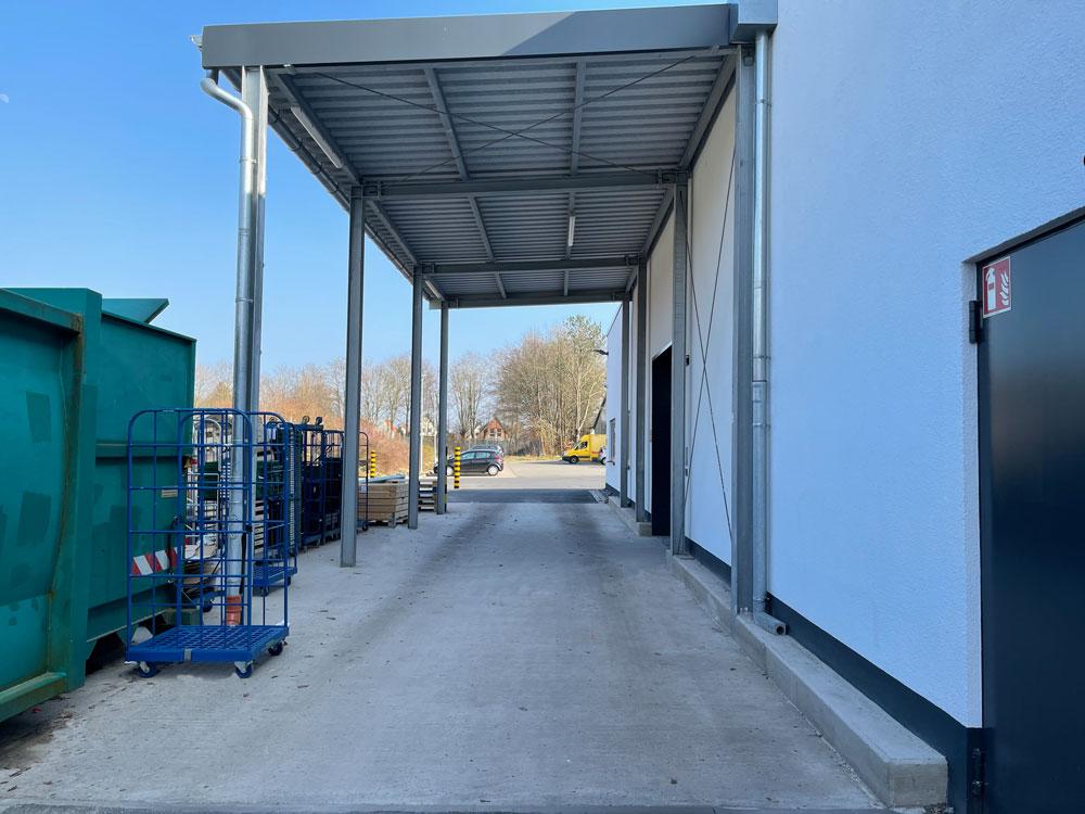 Bauunternehmen Meinert - LKW Lieferzone